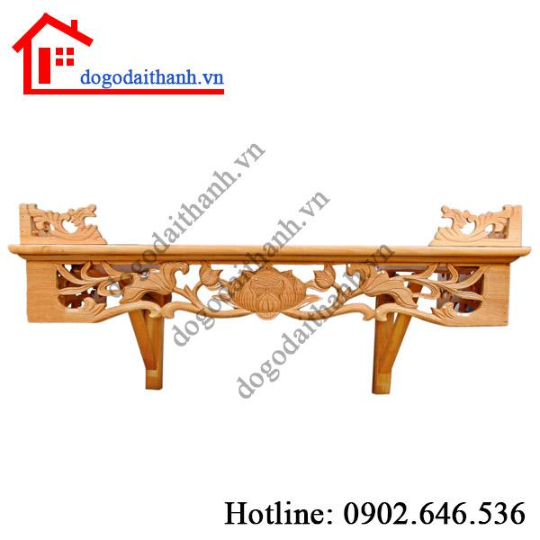 bàn thờ treo tường bằng gỗ
