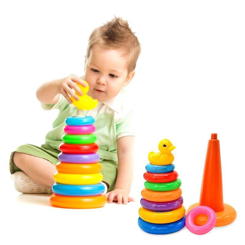 Hình ảnh Đồ chơi xếp vòng tháp vịt cho bé ( Nhiều Màu )