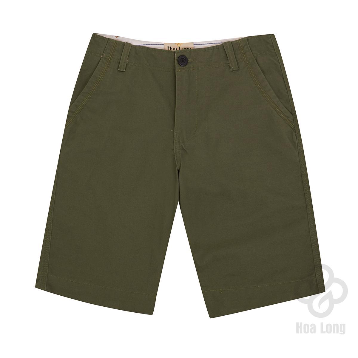 Quần Short Kaki Nam 100 Cotton Cao Cấp Xanh Reu Hoa Long Co Big Size Vietnam Chiết Khấu