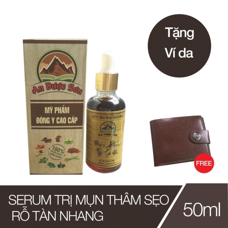 Thuốc trị mụn thâm sẹo rỗ An Dược Sơn - Chai 50ml (Tặng 01 bóp da Nam) cao cấp