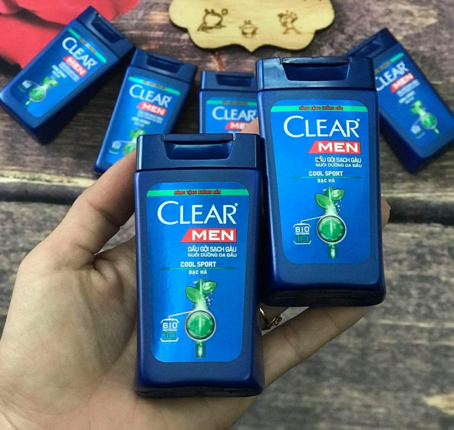 Hình ảnh Combo 3 Dầu gội clear men 50ml