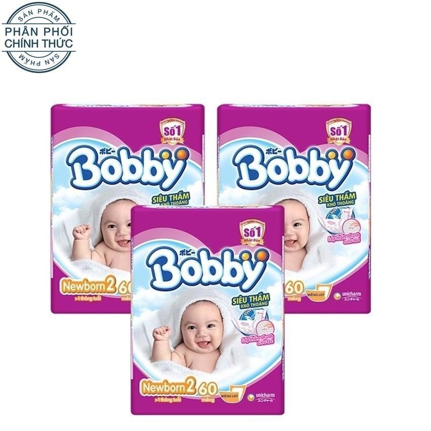 Bộ 3 Goi Ta Giấy Bobby Fresh Newborn 2 60 Nguyên