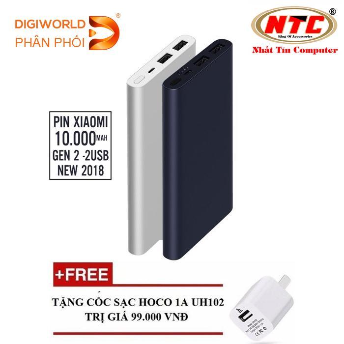 Bán Pin Sạc Dự Phong Xiaomi 10000Mah Gen 2S Hỗ Trợ Sạc Nhanh Digiworld Phan Phối Đen Tặng 01 Cốc Sạc Hoco Uh102 Trực Tuyến Hồ Chí Minh
