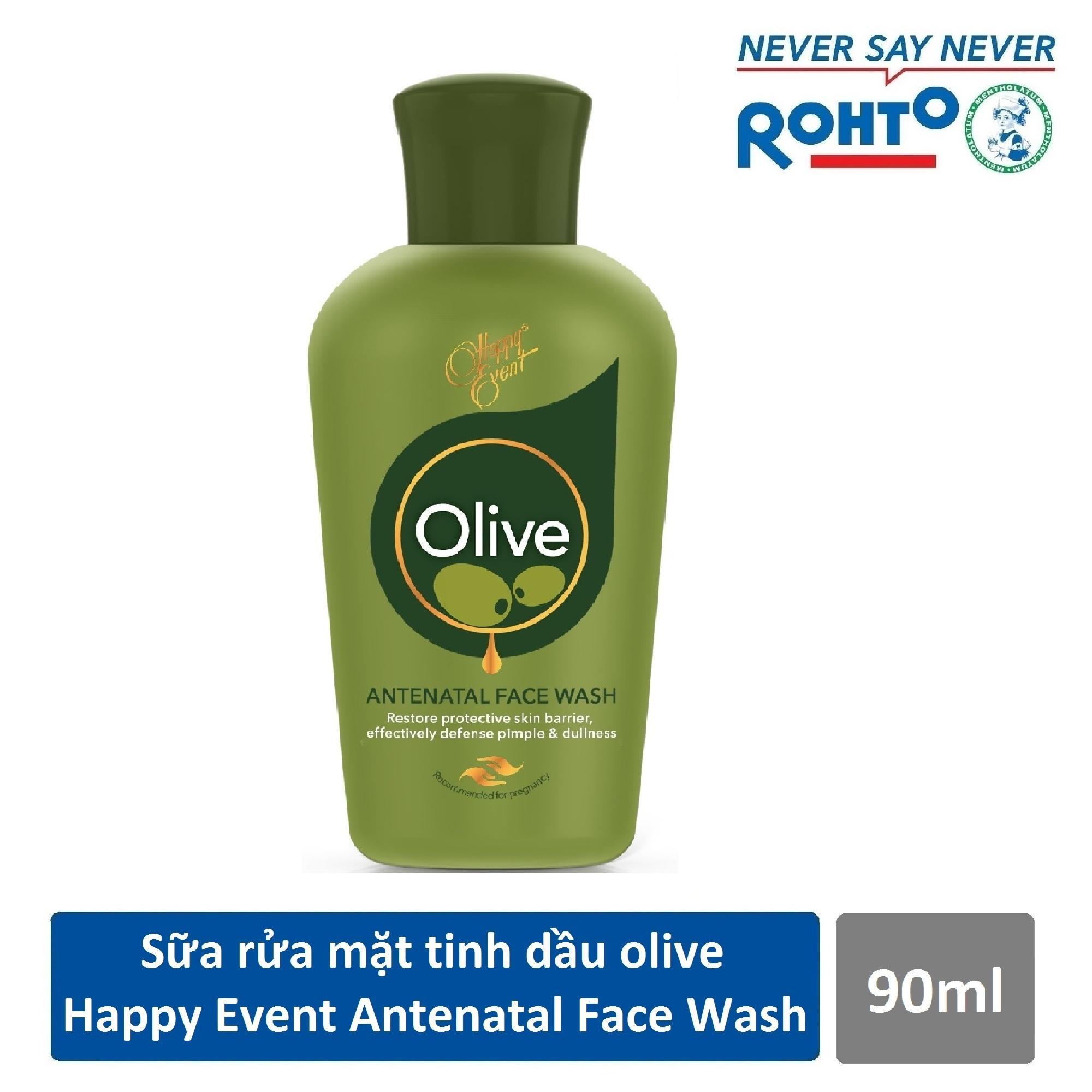 Hình ảnh Sữa rửa mặt tinh dầu olive ngừa mụn Happy Event Antenatal Face Wash 90ml