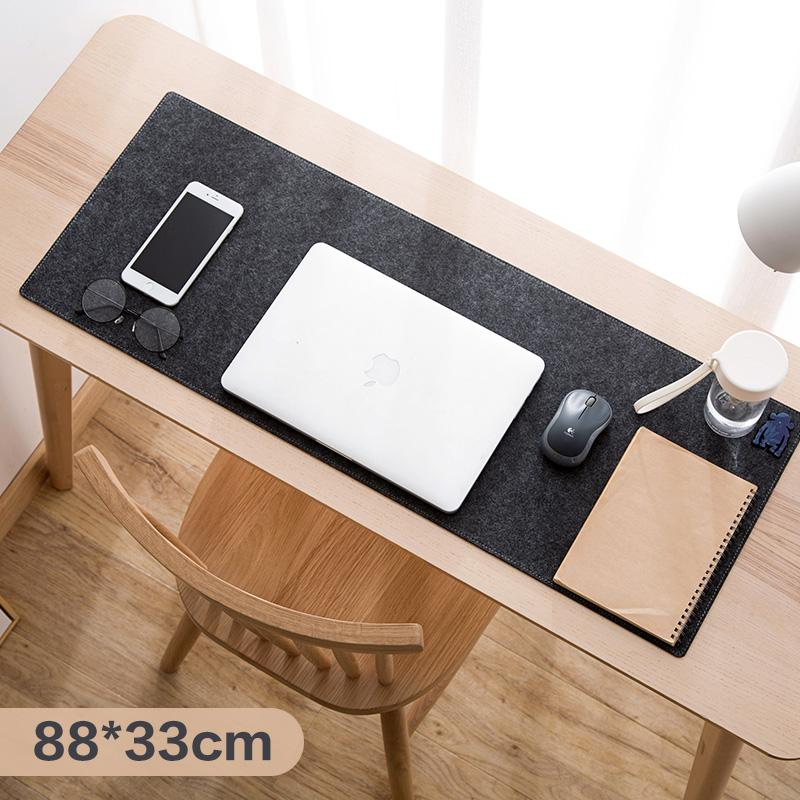 Ju la casa Felt Long Thick Mouse Pad Game Computer Desk Pad Desktop Keyboard Support Anti-slip Hand Protection Pad