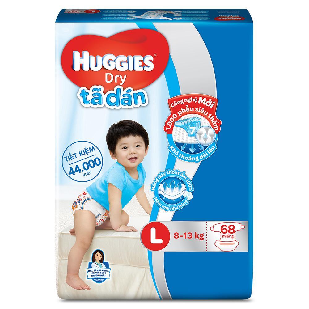 Ôn Tập Ta Dan Huggies Dry Super Jumbo L68 Trong Hà Nội