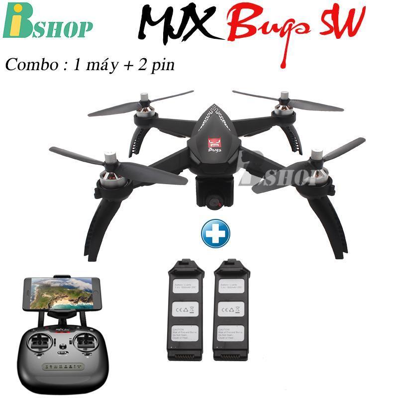 (Combo 1 máy 2 pin ) Máy bay MJX bugs 5W -  GPS, follow me , truyền hình ảnh về điện thoại, camera 1080P xoay góc