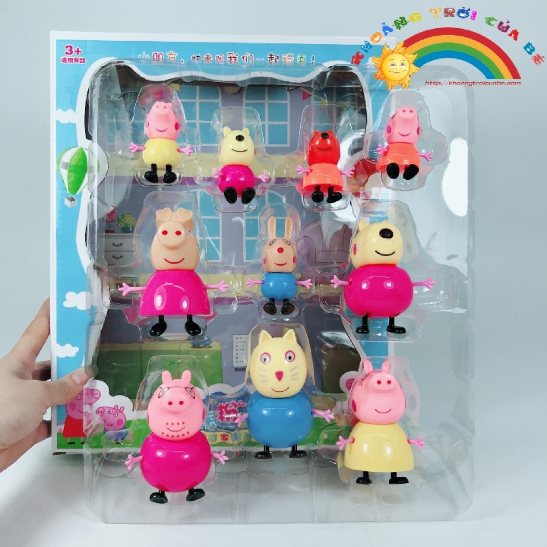 Hình ảnh Peppa Pig 10 nhân vật - PeppaPig gia đình KD866