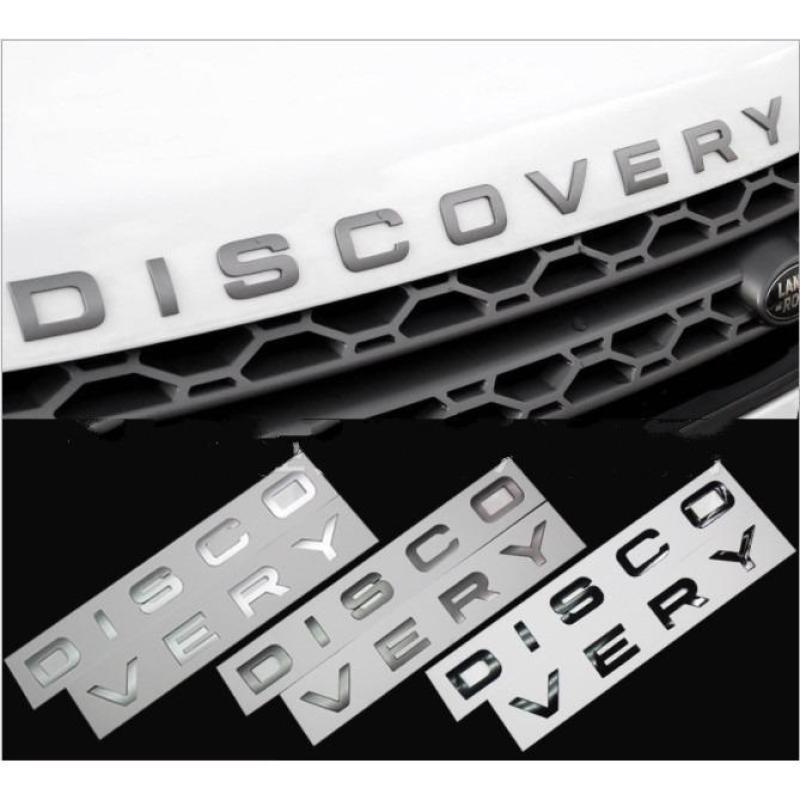 Chữ DISCOVERY nổi chrome dán ô tô - Logo DISCOVERY - Decal Ô tô