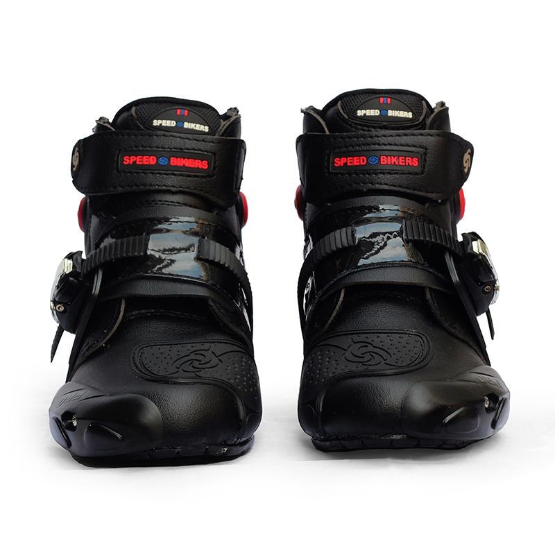 FS Men Soft Motorcycle Boots Biker Waterproof Speed Motocross Boots  Non-slip Motorcycle Shoes Shoe 352194fc35