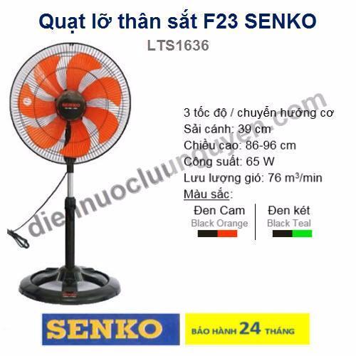 Quạt Lỡ Than Sắt F23 Senko Lts1636 Rẻ