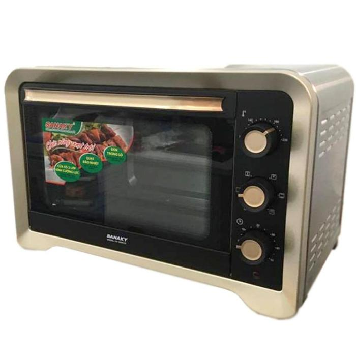 Hình ảnh Lò nướng Sanaky VH-809N2D - 2000W 80L Vỏ Inox