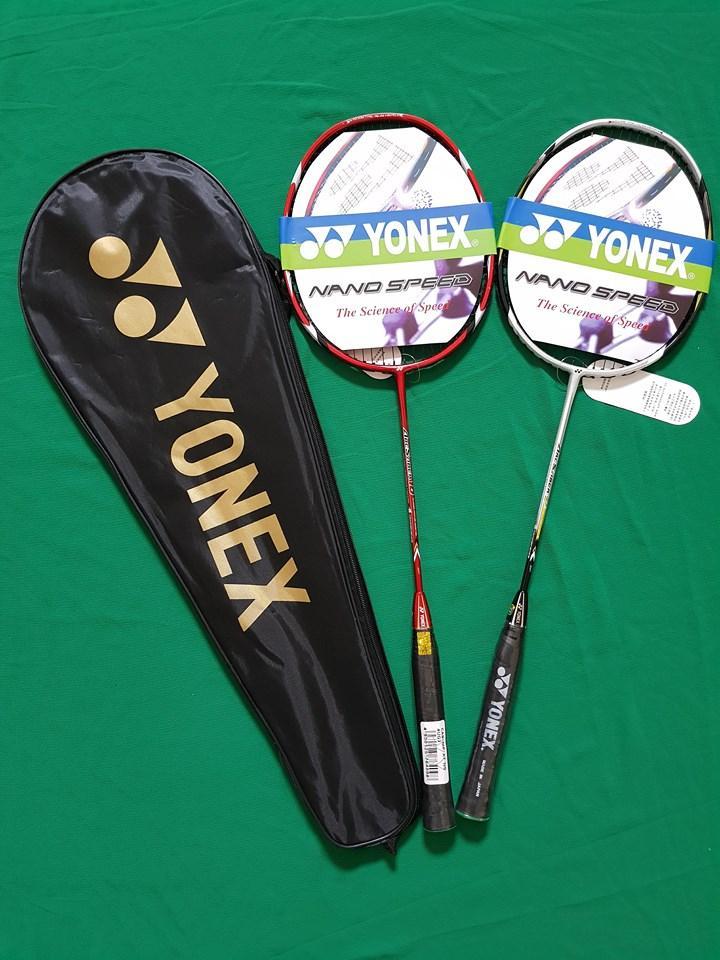 Hình ảnh Bộ 2 vợt cầu lông tập luyện YONEX (2 chiếc) màu ngẫu nhiên tặng quấn cán chống trơn + túi đựng vợt + 1 lần đan cước