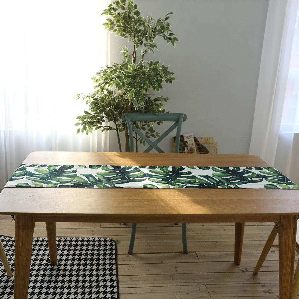 2c4ce796d1b Big House Cotton Linen Palm Leaf Monstera Leaf Green Leaf Table Cloth Table  Runner Placenmat Home