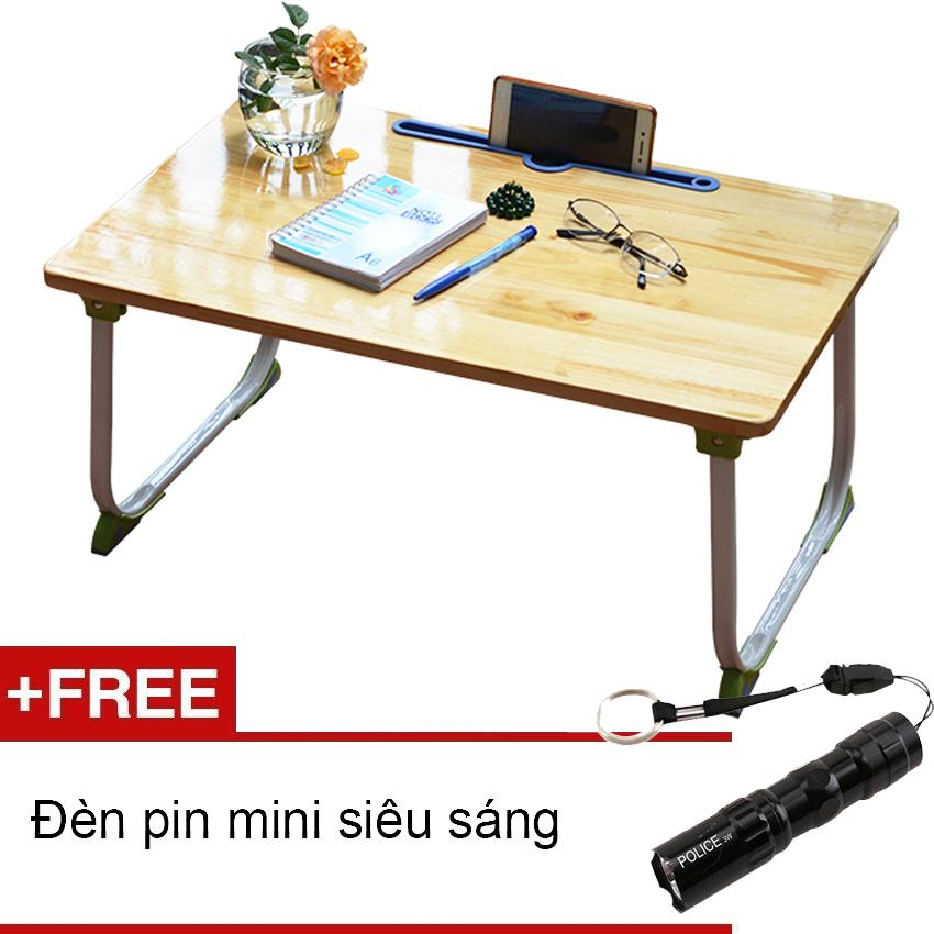 Bàn gỗ gấp gọn SH76 (Tặng đèn pin mini)