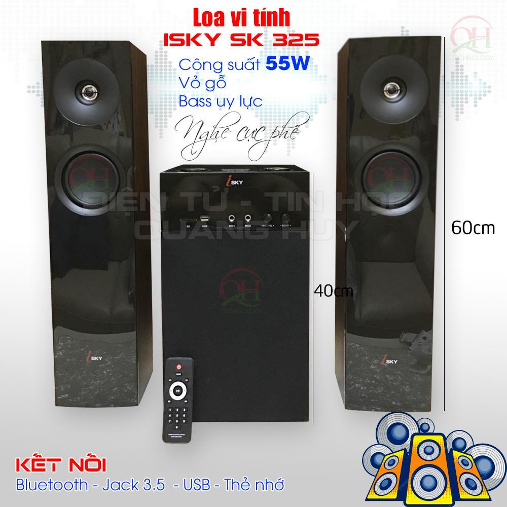 Loa vi tính ISky SK-325 - Bass cực mạnh - Kết nối bluetooth, jack 3.5, USB, thẻ SD