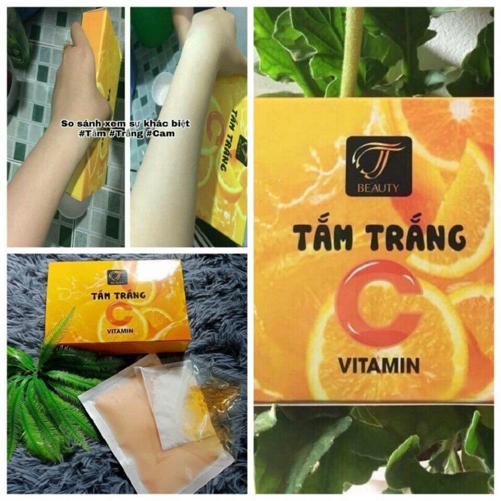 Hình ảnh Bột tắm trắng cam (VITAMIN C) - MUA 2 TẶNG 1 Gel hút mụn cao cấp