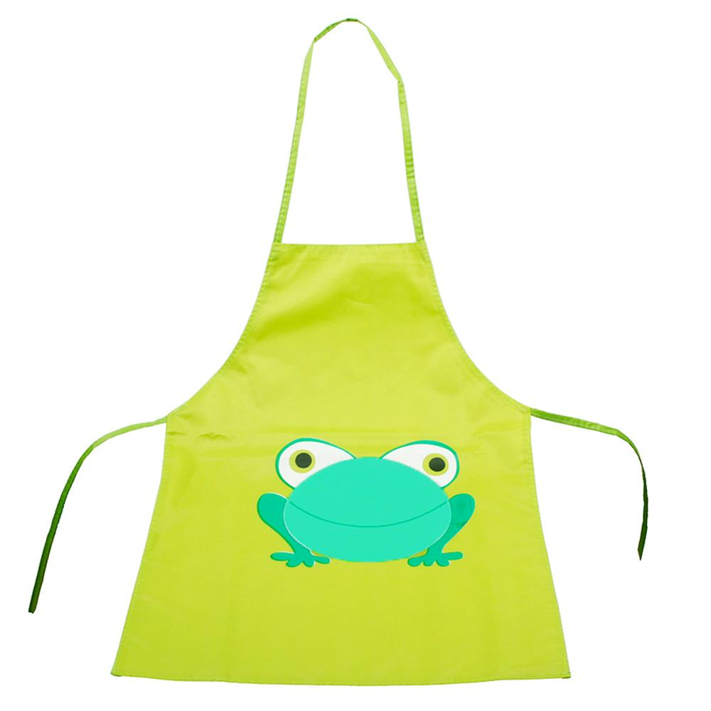 Hình ảnh Kids Cartoon Frog Style PVC Waterproof Sleeveless DIY Painting Drawing Art Craft Smock Apron for Below 110cm Height Kids Red - intl