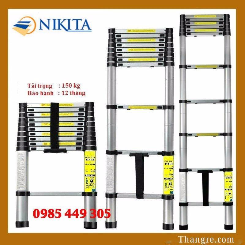 Thang nhôm rút đơn Nikita cao 4,9m (R49)