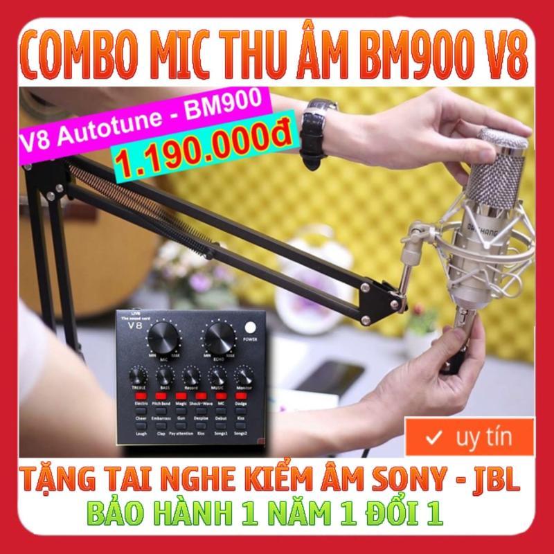 MIC THU ÂM BM900 V8 2018 Full phụ kiện