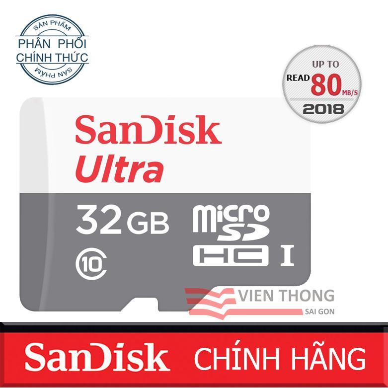 Mua Thẻ Nhớ 32Gb Up To 80Mb S Microsdhc Sandisk Ultra Hang Phan Phối Chinh Thức Trực Tuyến Rẻ