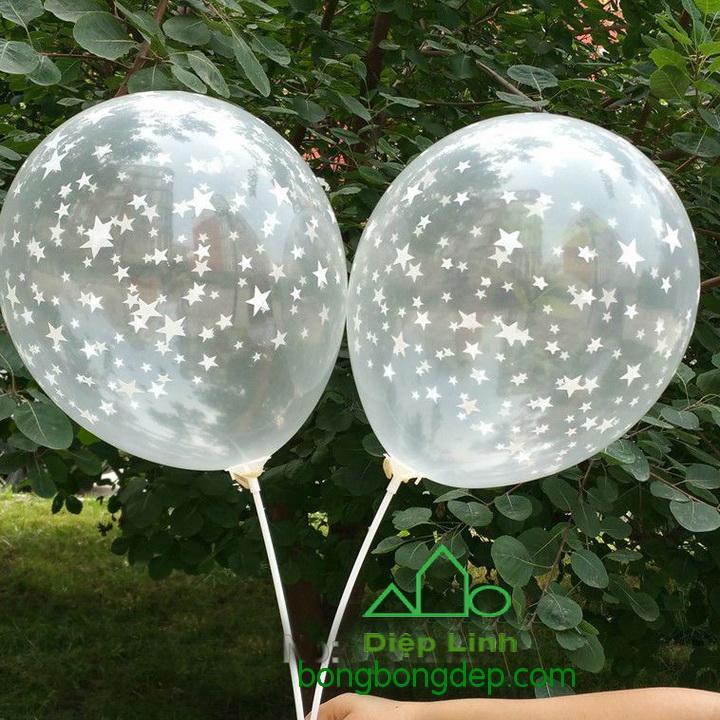 Hình ảnh Bộ 50 bong bóng trong suốt loại lớn 12in - Diệp Linh
