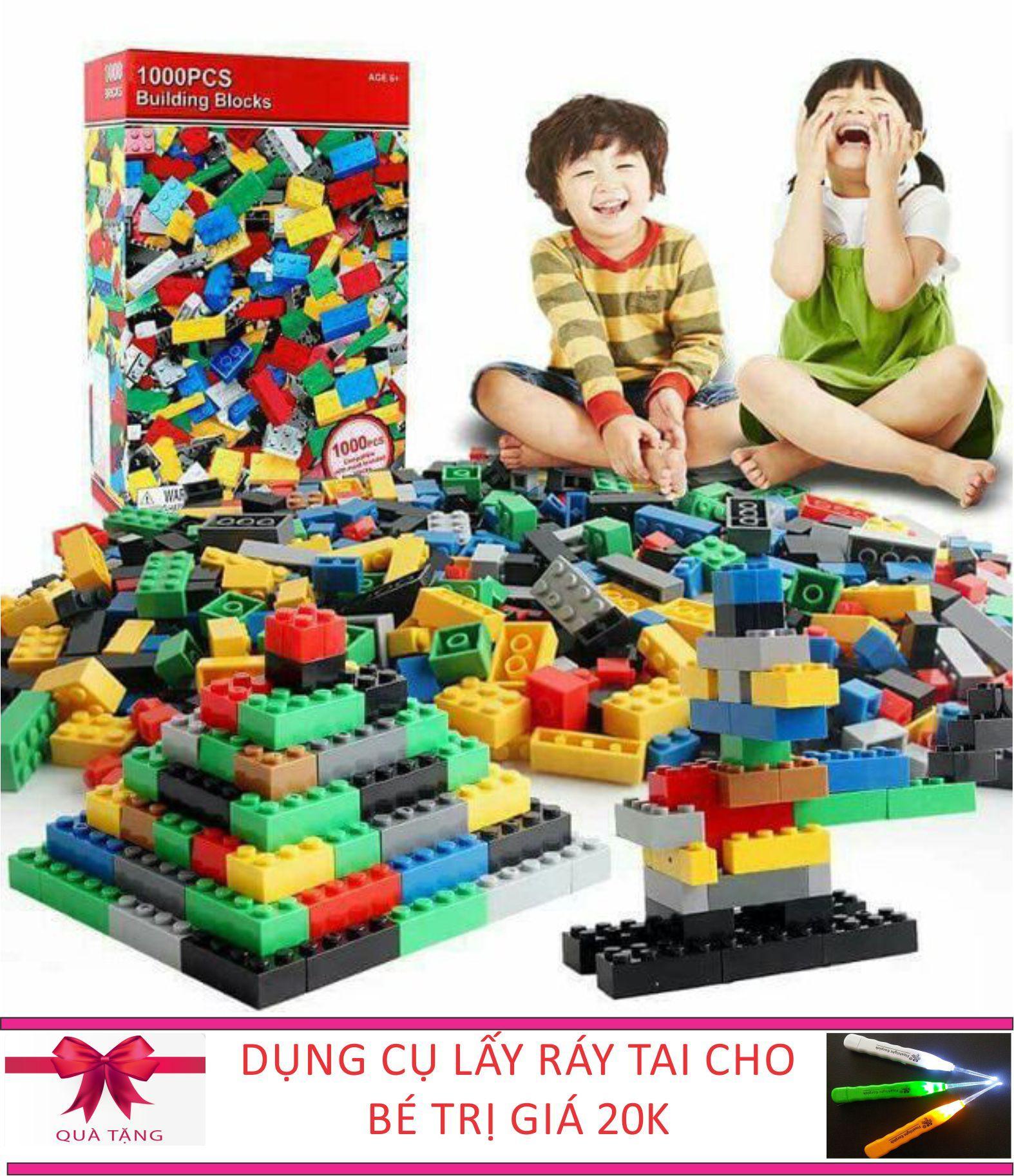 Hình ảnh BỘ XẾP HÌNH LEGO 1000 CHI TIẾT NHẬP KHẨU CHO BÉ TẶNG KÈM DỤNG CỤ LẤY RÁY TAI CÓ ĐÈN CHO BÉ