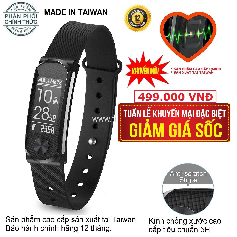 Hình ảnh Vòng tay thông minh, đo nhịp tim cao cấp Q-Band Q68HR TAIWAN New - Hãng phân phối chính thức