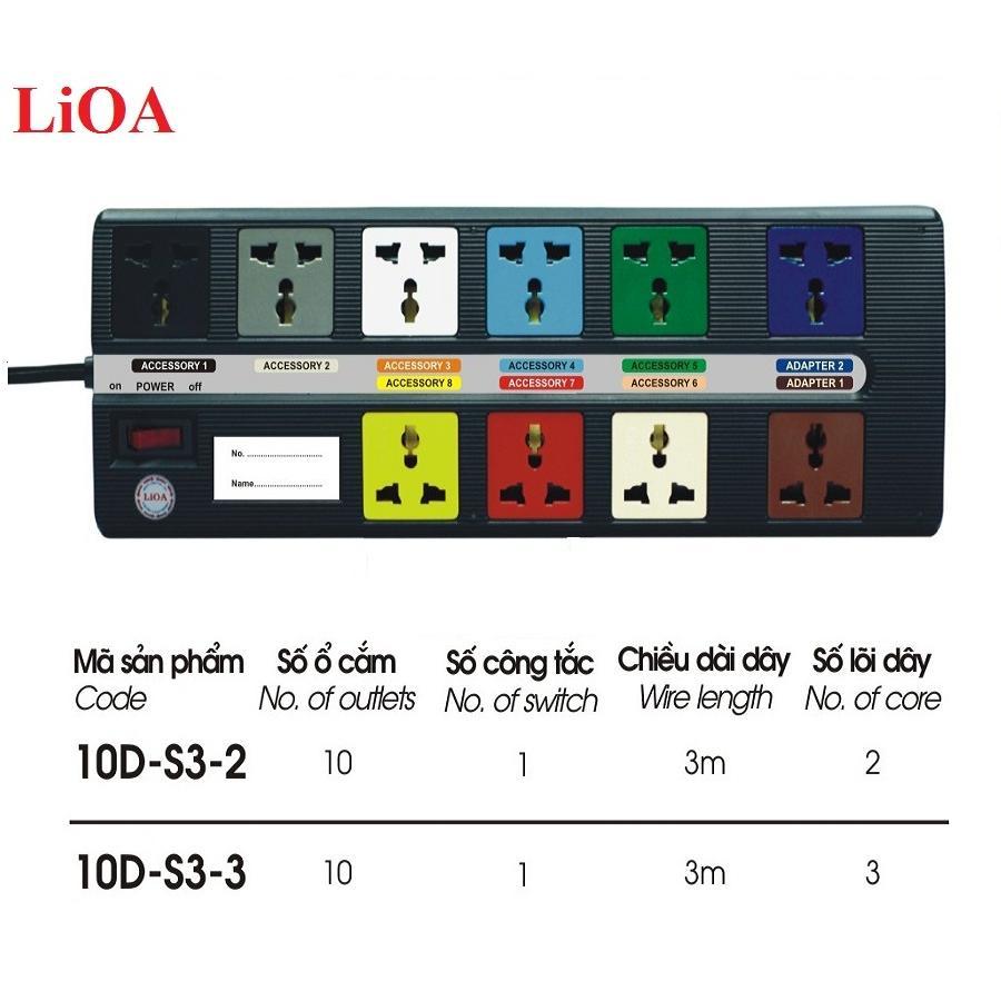 Giá Bán Ổ Cắm Keo Dai Đa Năng Super Lioa 10D S3 3 3M X 10 Ổ Cắm X 3 Loi Day Lioa Nguyên