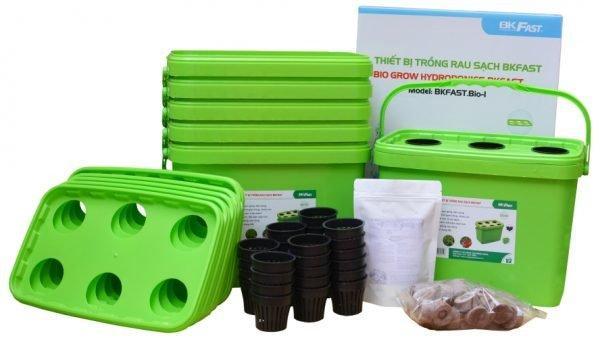 Bộ thiết bị trồng rau sạch BKFAST đơn giản ngay tại nhà
