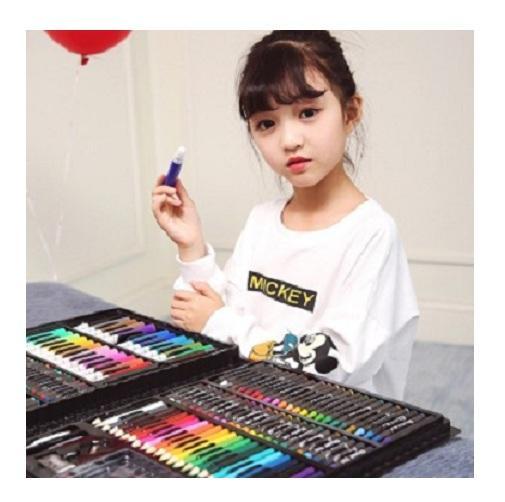 Hình ảnh Bộ bút chì màu 150 chi tiết cho bé