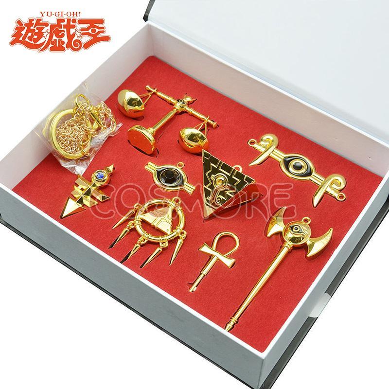 Manchuang ราชาเกมพวงกุญแจโลหะผสมสร้อยคอเครื่องประดับชุดที่ 8 รุ่น Duel Monsters ฟาโรห์ใส่กล่อง By Taobao Collection.