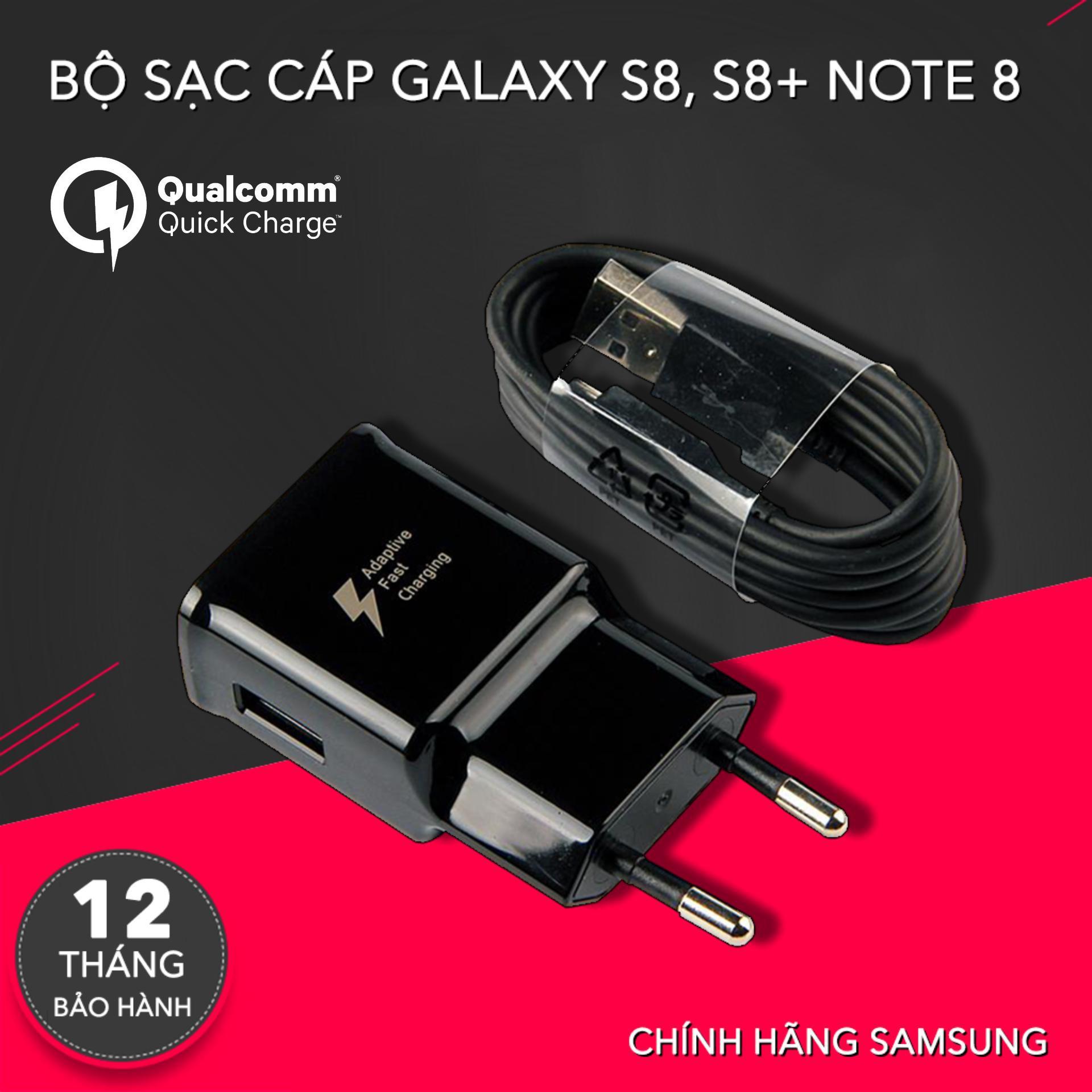 Hình ảnh Bộ củ sạc và dây cáp cho Samsung Galaxy S8 / S8 Plus - Hàng made in Việt Nam, hỗ trợ sạc nhanh Qualcomm, Cáp Type C dài 1.2-2m