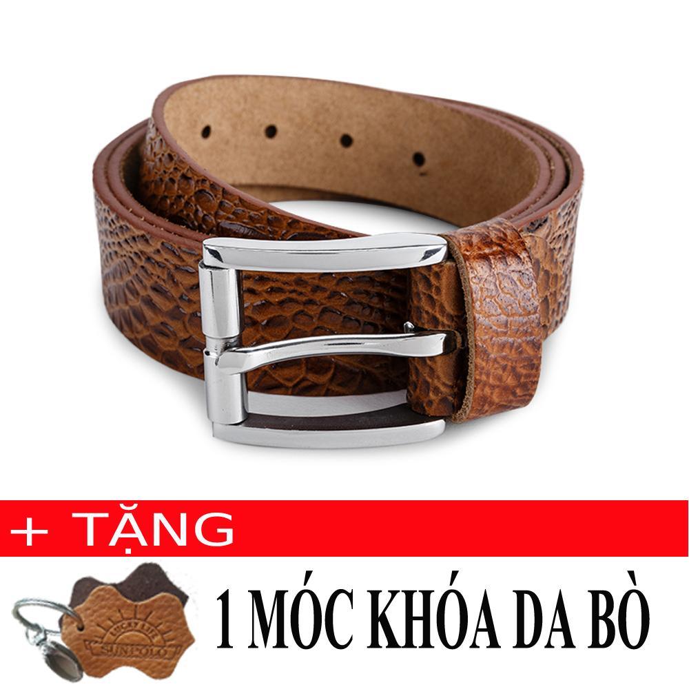 Mã Khuyến Mại Thắt Lưng Nam Da Bo Sunpolo Bs06B Nau Bo Tặng Moc Khoa Da Bo Sunpolo Mới Nhất