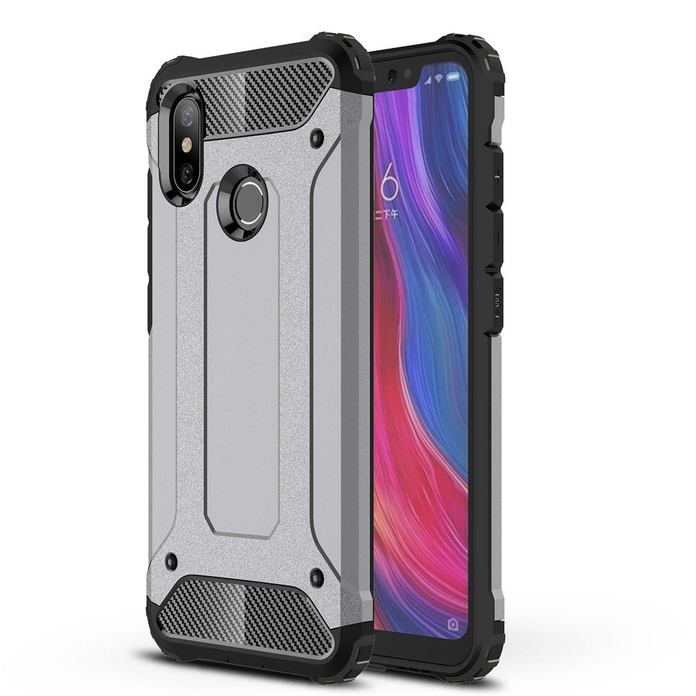 VND 90.000. Lenuo TPU + Hard Plastic Case for Xiaomi Mi 8 Hybrid Shell Armor Rugged Anti-knock Shockproof Cover for Xiaomi Mi8VND90000