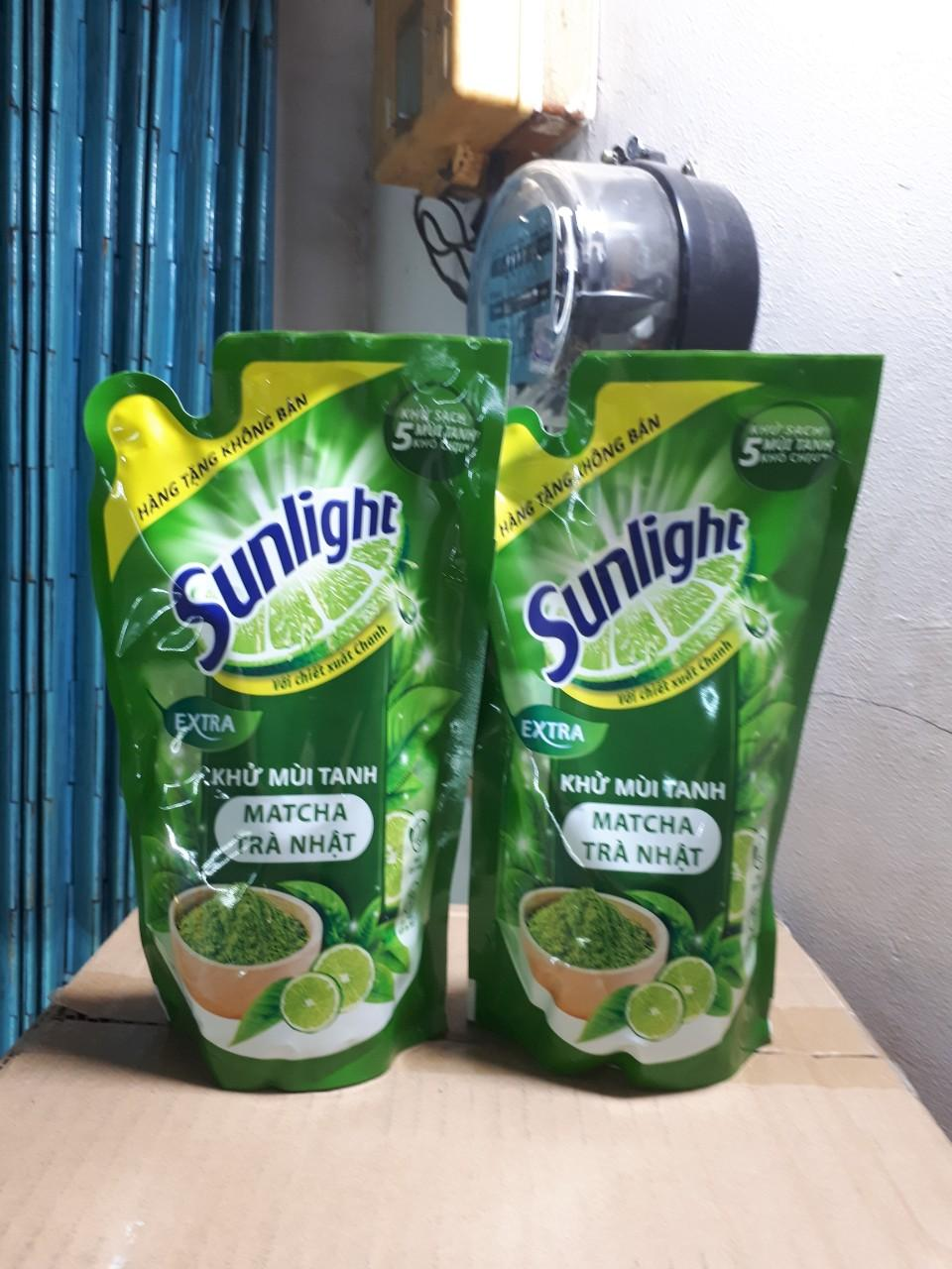Hình ảnh Nước rửa chén Sunlight extra trà xanh Nhật Bản 550g (Hàng tặng)