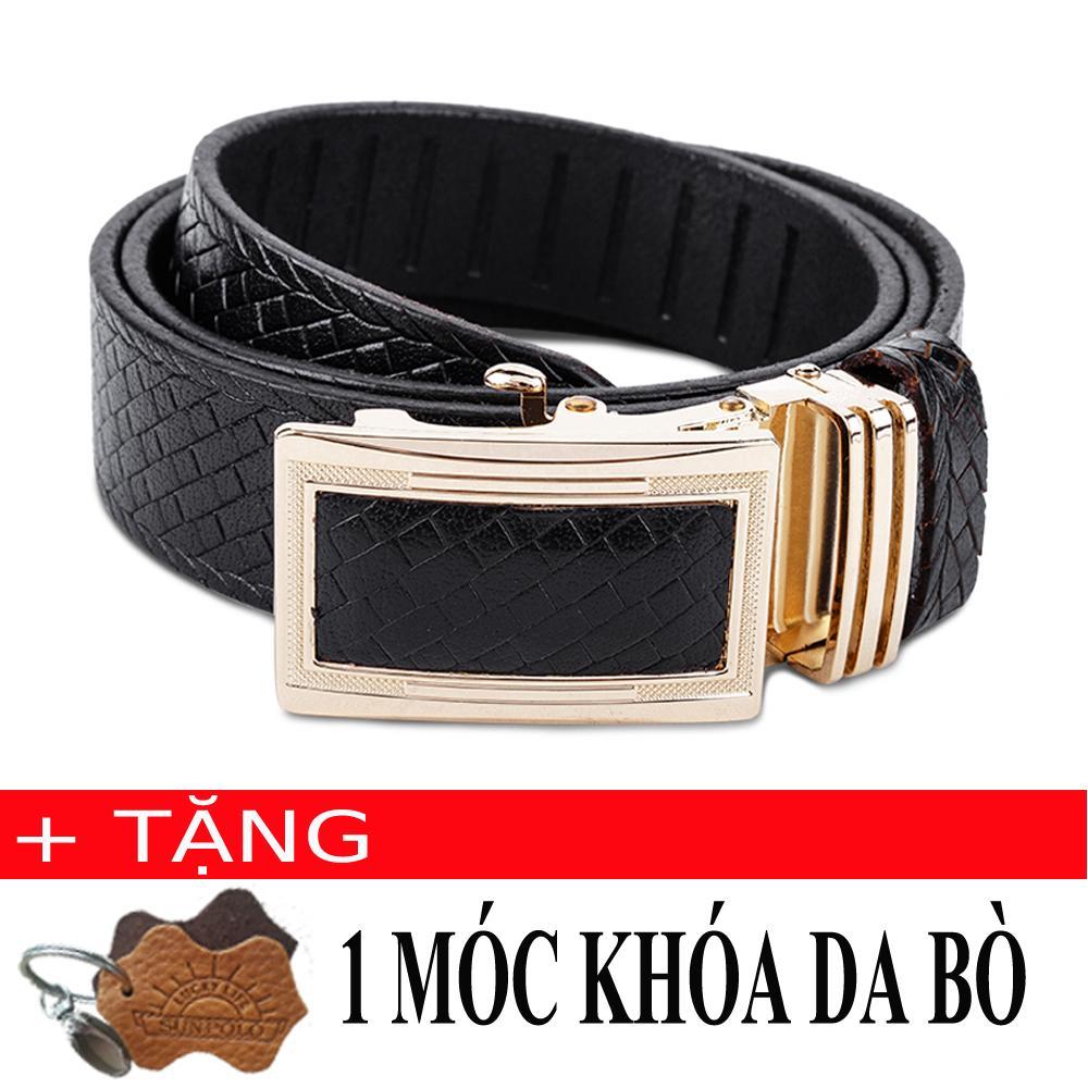 Mã Khuyến Mại Thắt Lưng Nam Da Bo Sunpolo Bs18D Đen Tặng Moc Khoa Da Bo Rẻ