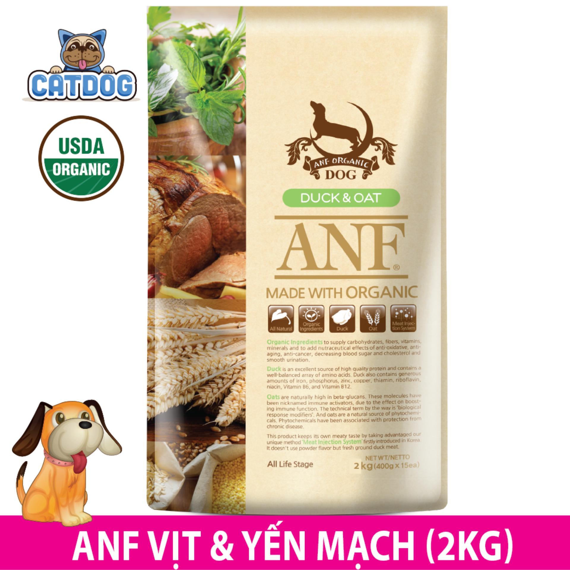 Ôn Tập Trên Hạt Anf Made With Organic Vị Vịt Va Yến Mạch 2Kg Cho