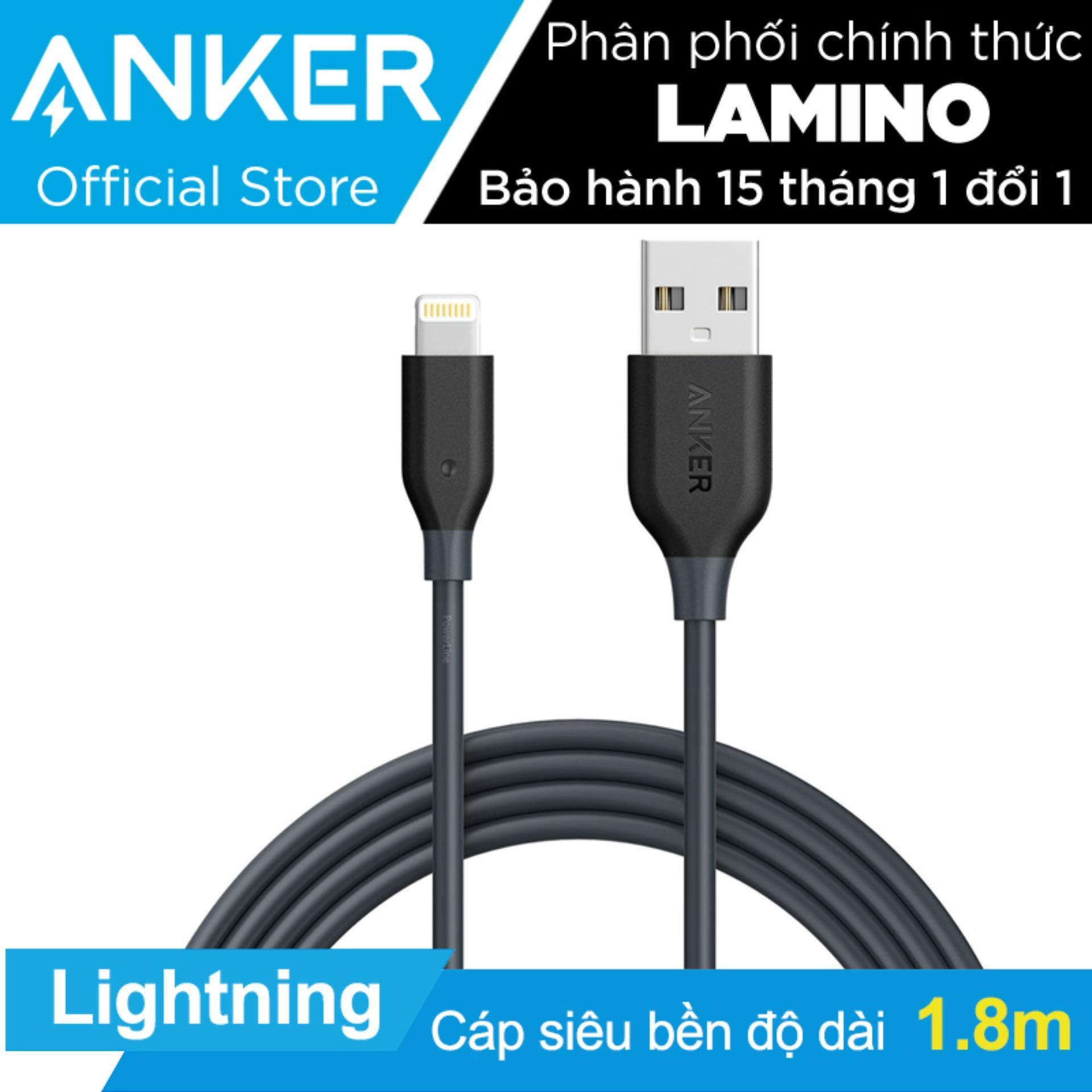 Bán Cap Sạc Sieu Bền Anker Powerline Lightning 1 8M Cho Iphone Ipad Ipod Xam Hang Phan Phối Chinh Thức Hồ Chí Minh
