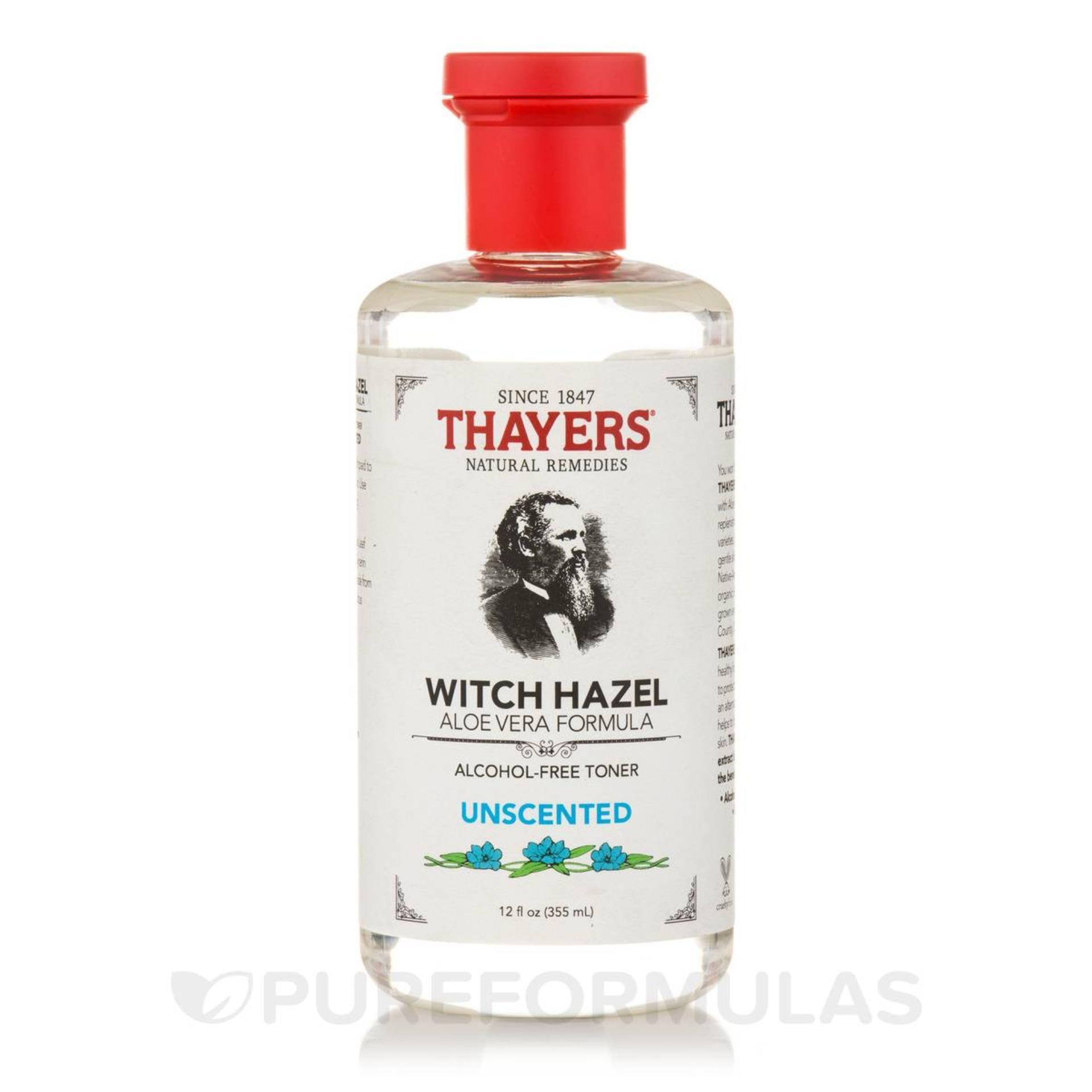 Ôn Tập Nước Hoa Hồng Khong Cồn Thayers® Alcohol Free Unscented Witch Hazel Toner 355Ml Danh Cho Da Nhờn Va Da Mụn