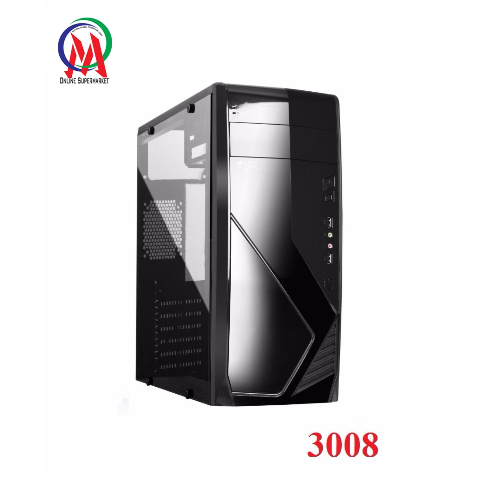Hình ảnh Vỏ Case máy tính VSP 3008 Full Kính bên hông trong suốt sơn tĩnh điện