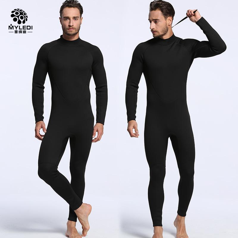 a4df901ca9 2mm Siamese Black Neoprene Men And Women Diving Suits Surfing Waterproof  Warm Wet Wetsuit