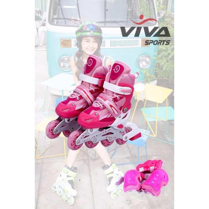 Giày Patin Hồng size L (37-42) New