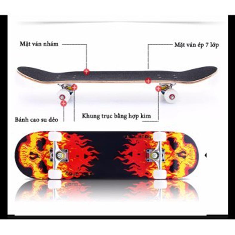 Ván trượt skateboard tiêu chuẩn thi đấu (chịu lực lên tới 120kg)