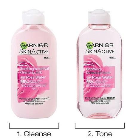 Bộ sản phẩm chăm sóc da GARNIER dành cho da khô và nhạy cảm 2x200ml - Đức