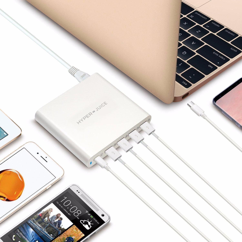 Sạc HyperJuice 80W USB-C 4 x QC 3.0 USB (Trắng) – Review và Đánh giá sản phẩm
