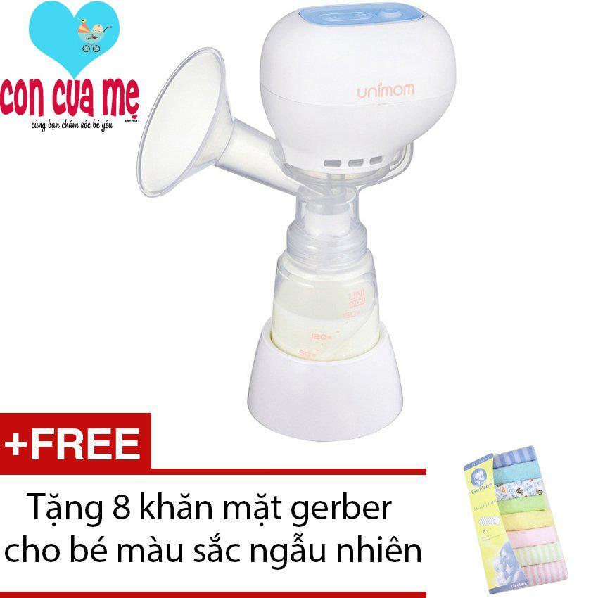 Bán May Hut Sữa Mẹ Điện Tử Khong Co Bpa Unimom K Pop Eco 871104 Trắng Tặng 8 Khăn Mặt Gerber Cho Be Mau Sắc Ngẫu Nhien Nguyên
