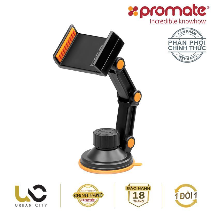 Hình ảnh Giá giữ điện thoại trên ôtô Promate riseMount 5.5-8cm (Cam) - Hàng Chính Hãng