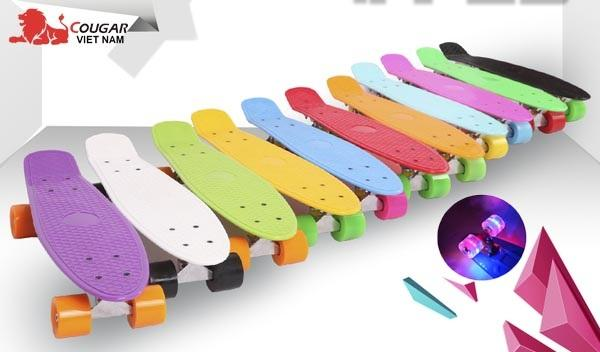 Ván Trượt Skateboard Penny-bánh phát sáng