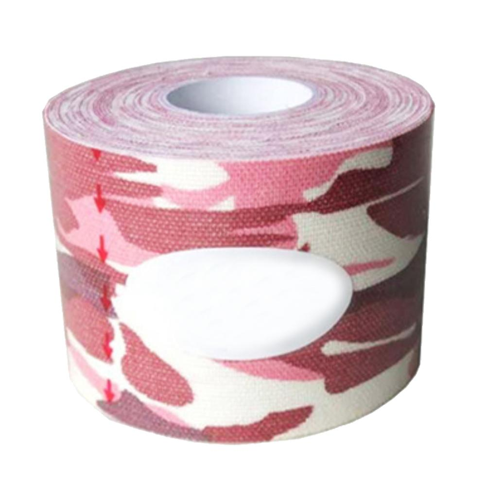 Hình ảnh 1Roll Sports Injury Elastic Tape Strong Self-adhesive Waterproof Breathable Kinesiology Muscle Support Tape Reduces Fatigue for Knee Shoulder Elbow Ankle Back Neck 196.85 x 1.97inches Camouflage-pink - intl